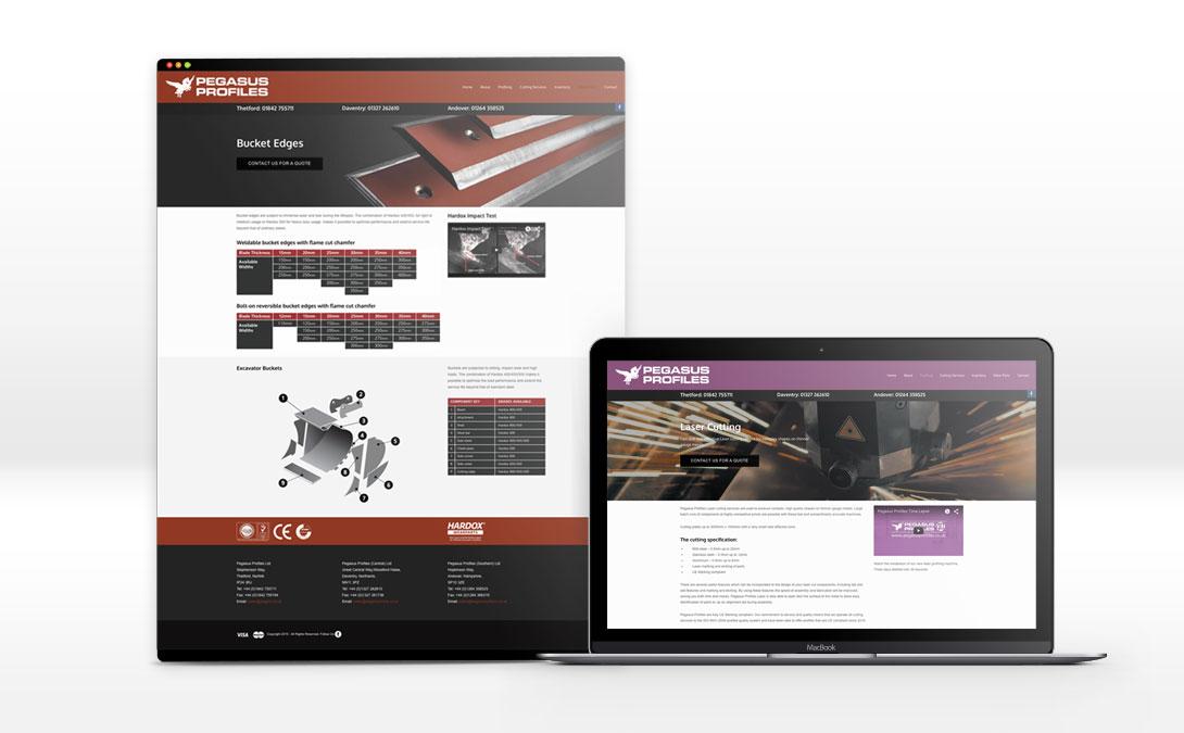 Pegasus Profiles Web Pages | Design & Build Ross Power
