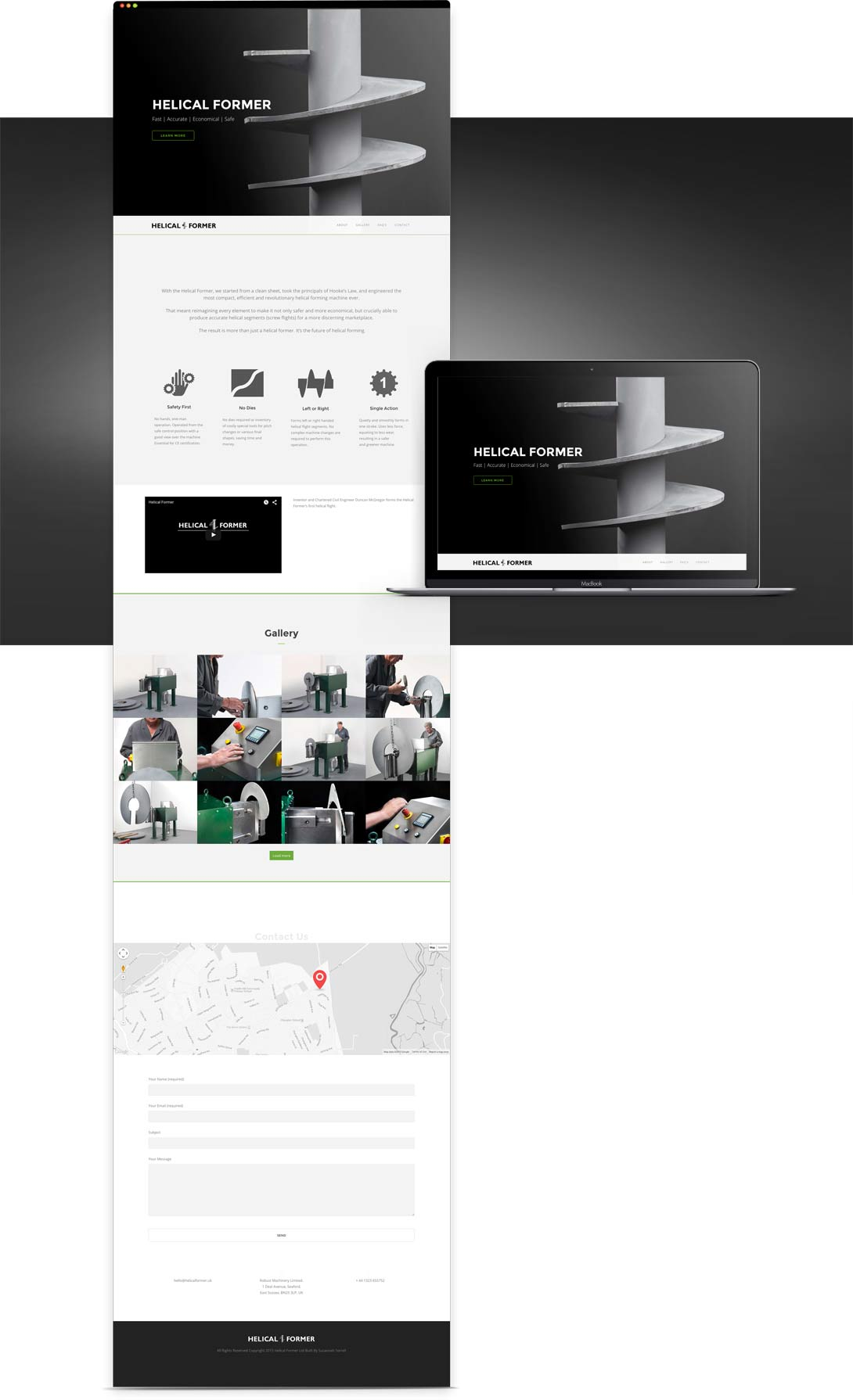 Helical Former Website | Design & Build Ross Power